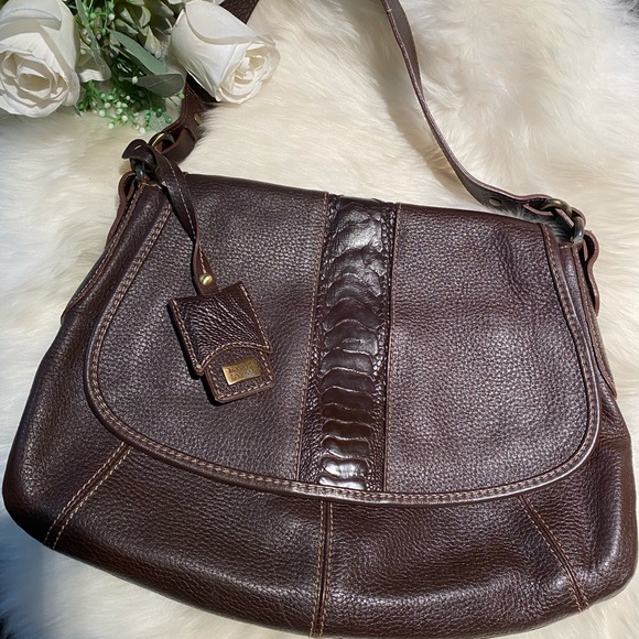 Leather Handbags - Genuine full cow leather bag with brass hw!